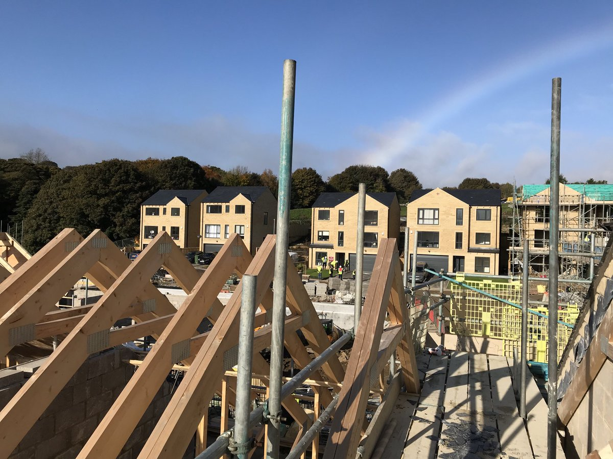 Roof top view from WoodNook DenbyDale site @conroybrook