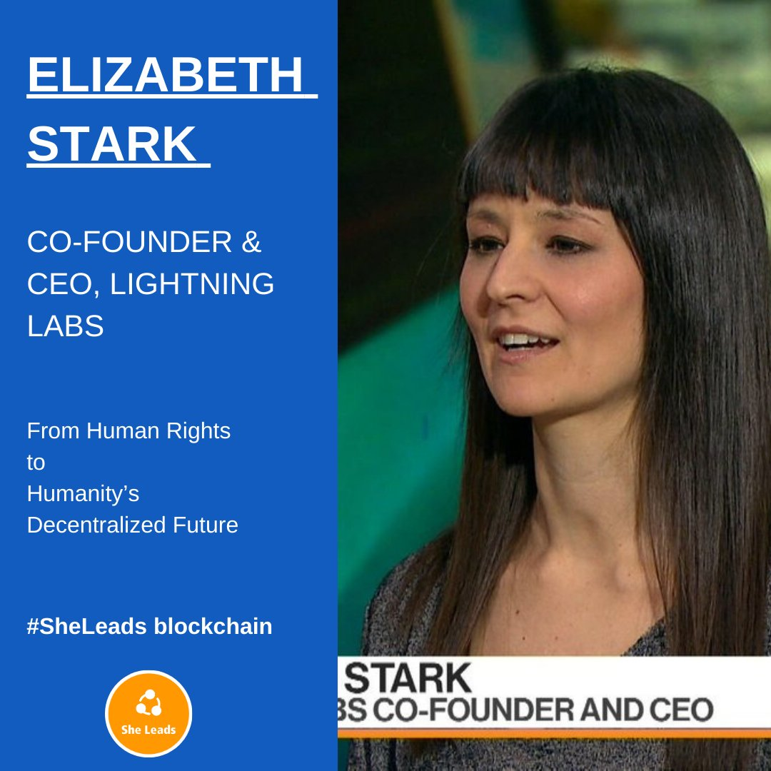 Meet - Elizabeth Stark is co-founder and CEO of Lightning Labs, where she is building a programmable financial layer for the internet with fast, scalable bitcoin transactions.  Read about her journey: https://t.co/GGqLHCXEE0 🙌 #SheLeads #blockchain #bitcoin #coin #cryptocurrency https://t.co/KbVS09wZ79