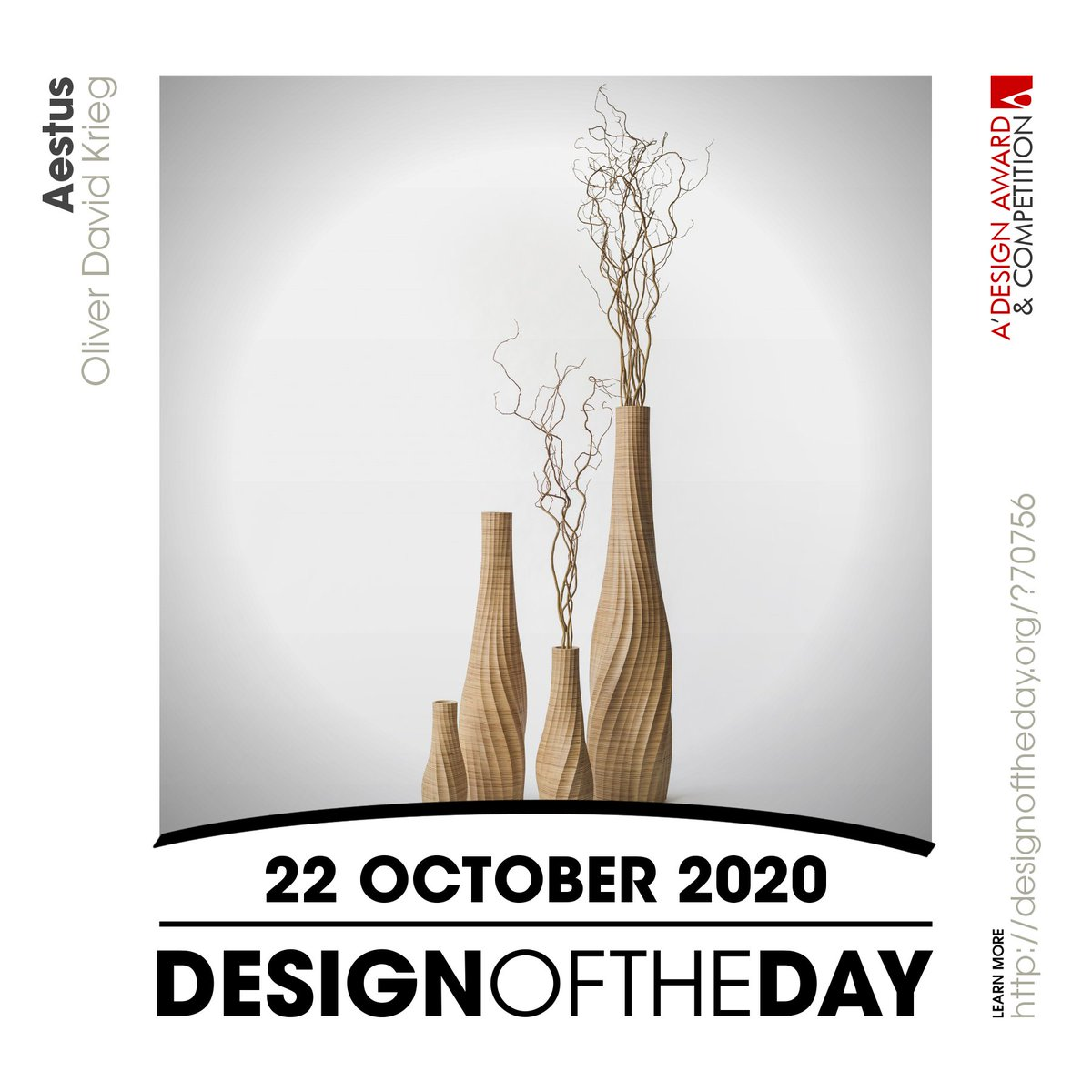 Congrats to Oliver David Krieg - @odkdesign, the creator behind the Design of the Day of 22 October 2020 - Aestus Vase. Check out this great work now. We are currently featuring it at https://t.co/qxAVfJ7rNh #designoftheday https://t.co/7yXcW7xeTg