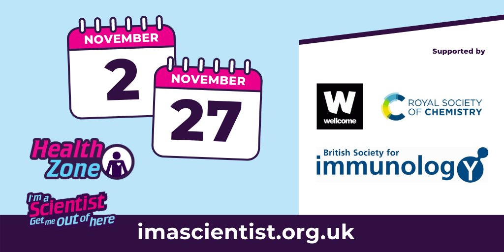 We've got lots to offer this November, including our upcoming Health Zone on 2-27 November, funded by @britsocimm, @RoySocChem and @wellcometrust. Students can connect with STEM from school or at home. Find out more here: https://t.co/FAuZrjG0iV https://t.co/zydJhDd98g