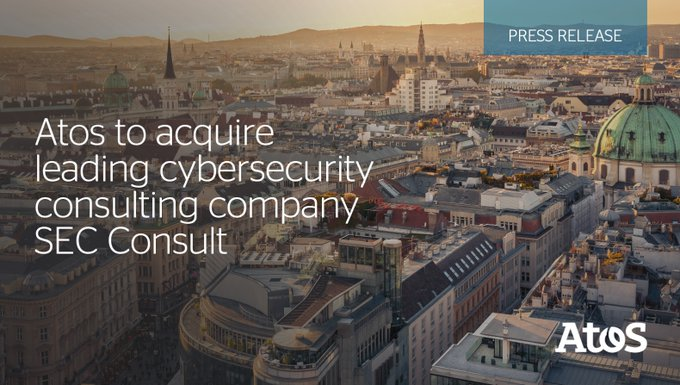 #Cybersecurity We're proud to have reached an agreement to acquire @sec_consult This acquisiti...