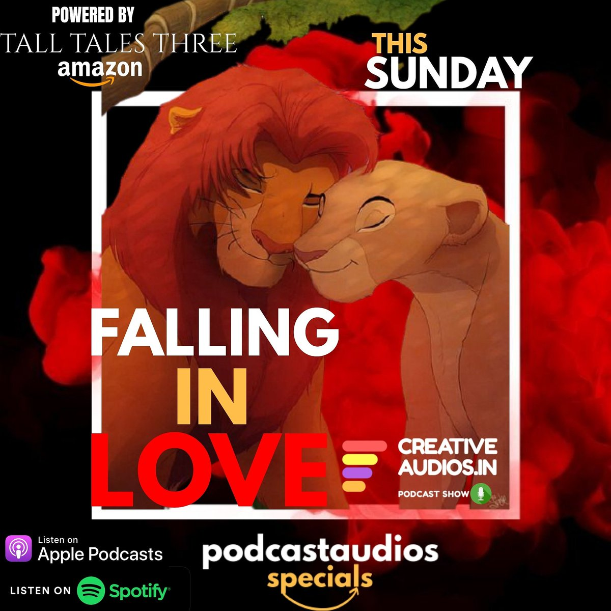 FALLING IN LOVE This Sunday on @PodcastAudios  #podcastsofinstagram #podcast #podcasts #podcastersofinstagram #podcastlife #podcasting #podcaster #podcastshow #podcastlove #applepodcasts #podcastmovement #podcastinglife #podcasters #podcastaddict #spotifypodcast #spotify https://t.co/jqSgviSlpu