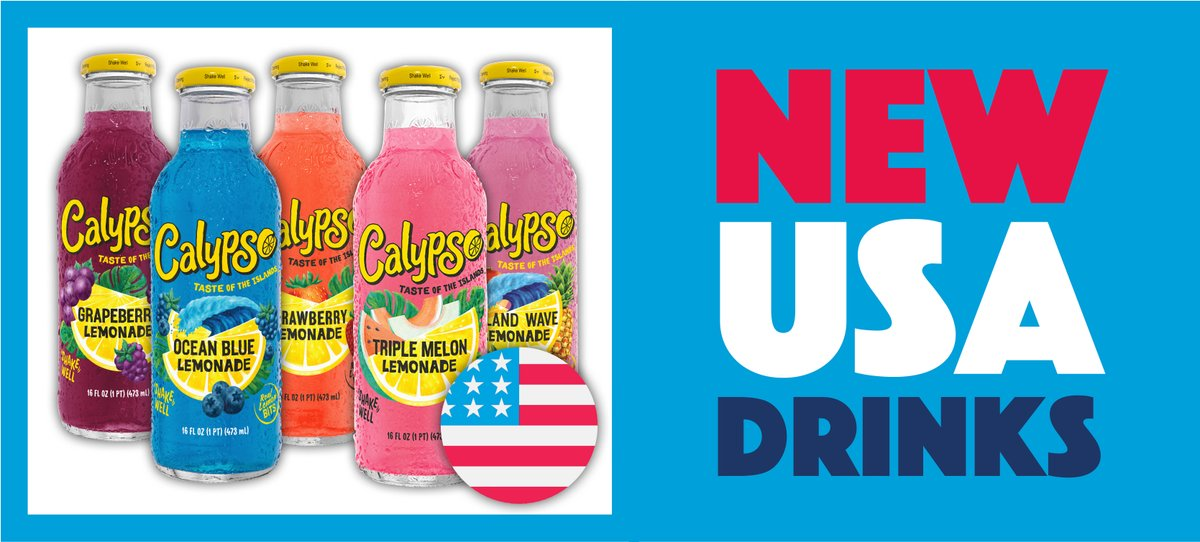 NEW American Drinks! 🥤  We have five DELICIOUS flavours of Calypso available in-store NOW! The perfect refreshing summer flavours for your shelves this summer! ☀️  *excludes Watford*  Check out our full drinks range online here 👉 https://t.co/Bx52QSnvQB https://t.co/uxyMRqQqsd