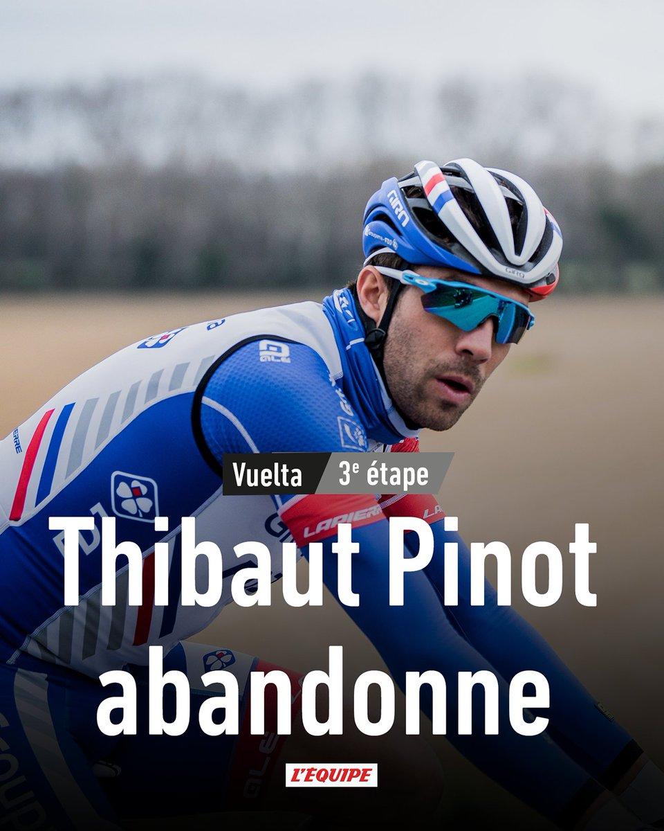 Thibaut Pinot abandonne le Tour d'Espagne avant la 3e étape : https://t.co/XPWjx1qGur https://t.co/haWN39GCcb