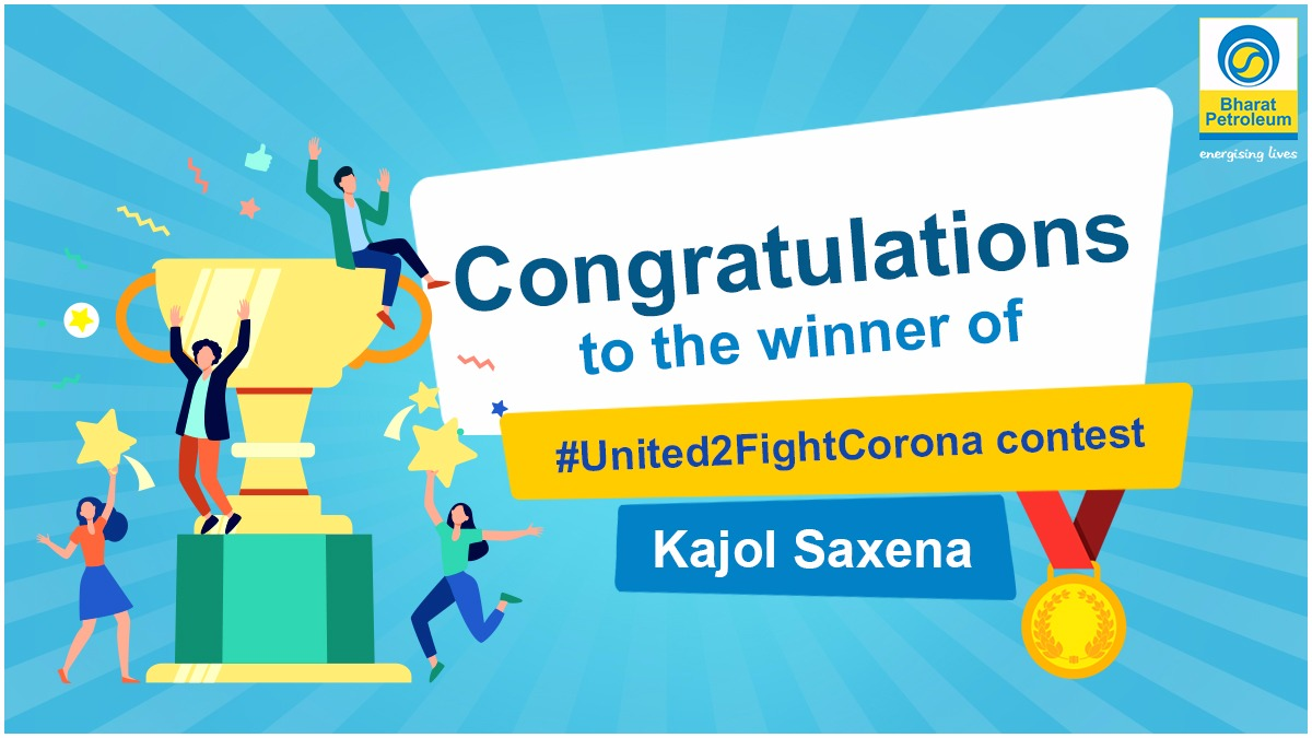 Congratulations Kajol! Please send us your details via DM to receive your voucher.  Remember to stay safe and stand #United2FightCorona https://t.co/m3urRA5GXp