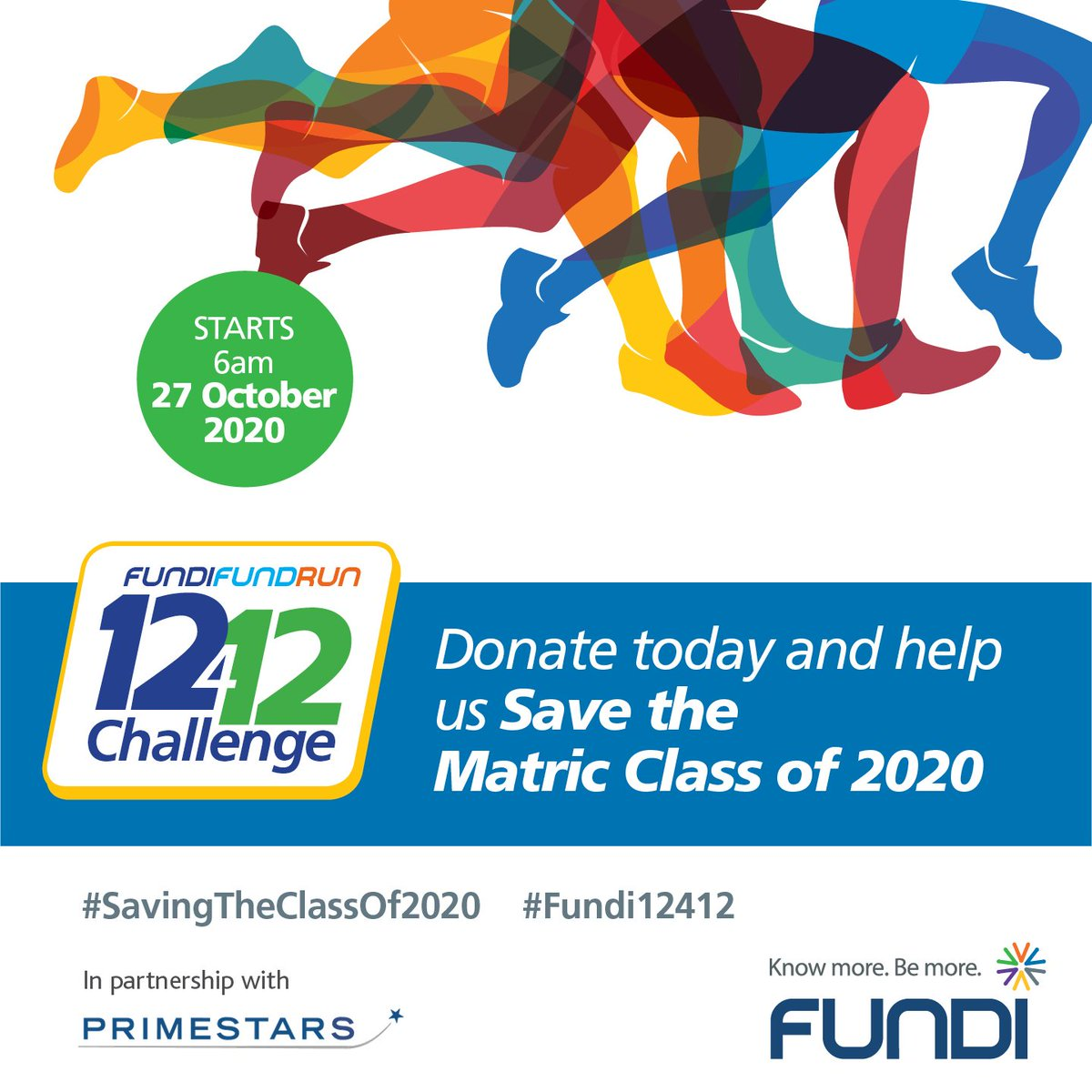 @Official_FUNDI is hosting a Fund Run to raise R12 Million towards learners from township and rural schools who were seriously disadvantaged during lockdown, and needs your help to raise funds before their big exams. Donate today & stand a chance to win a R500 voucher.  Thread: https://t.co/1nMLDg5Frf