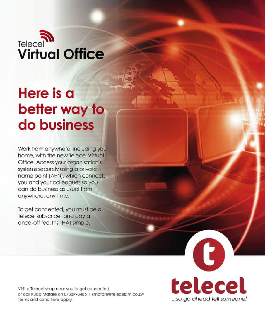 Do your own business in your own space and time with the Telecel Virtual office.Visit your nearest Telecel shop to connect.T&C's apply. #virtualoffice #tellsomeone https://t.co/mTDDcLDt9I