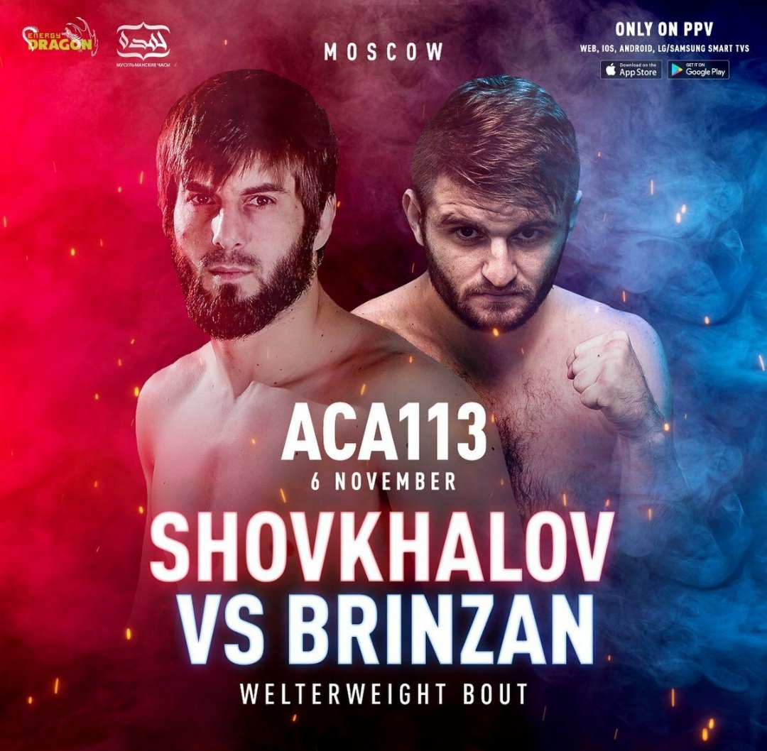 Rasul Shovhalov vs. Cristian Brinzan added to #ACA113 in Moscow. (November 6th) https://t.co/hFk7sFCBeB