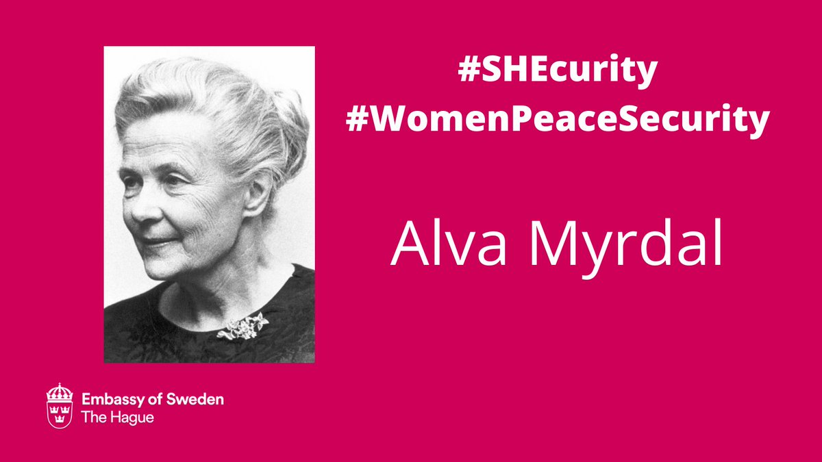 Embassy Of Sweden In Nl On Twitter Alva Myrdal Won The Nobel Peace Prize For Her Relentless Work On Disarmament She Was Also Part Of The Creation Of The Swedish International Peace
