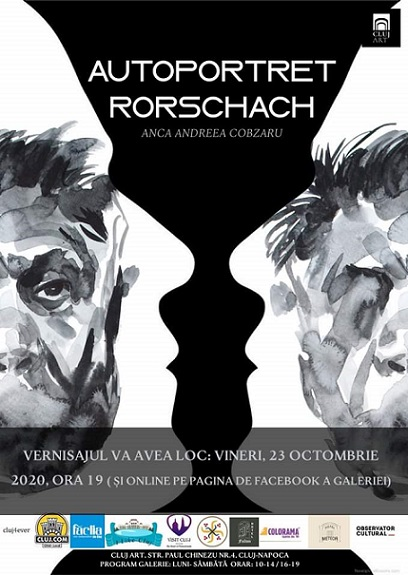 23-30 octombrie 2020, ora 18:00, Cluj Art, str. Paul Chinezu, nr.4/2 #Cluj  Expoziția de pictură Autoportret Rorschach https://t.co/yZDE94QSZH https://t.co/D3t6fa6vtG