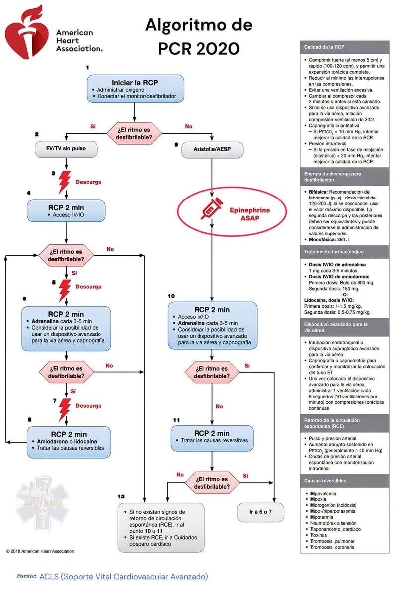 Y que se actualiza el algoritmo #PCR #heart #ACLS #ENARM https://t.co/2wR67fDbLV
