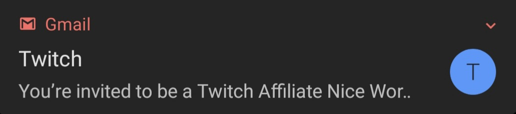 WE DID IT FOLKS! Twitch's newest affiliate has arrived! #Twitch #TwitchStreamer #TwitchAffiliate https://t.co/K68XiC9DlB