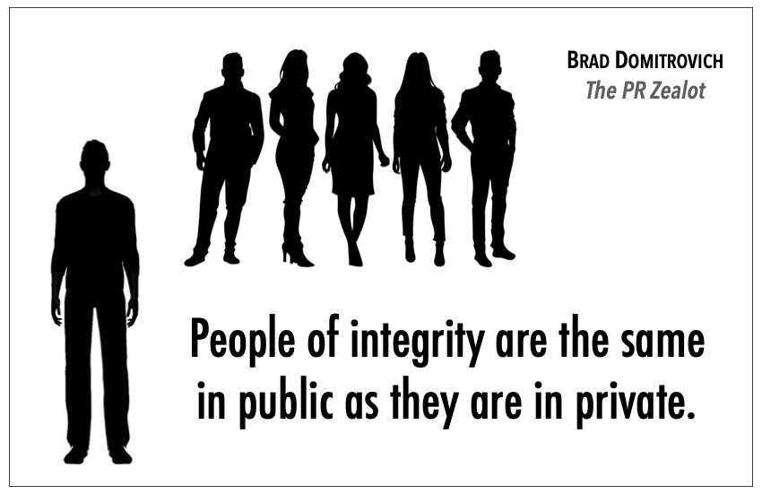 Being honest. Having formidable moral principles. Integrity is the road to success. - #PR #SchoolPR