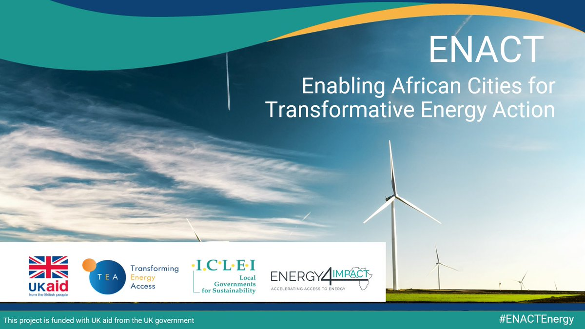 In celebration of World Energy Day 2020, we and our partners @thecarbontrust & @Energy4Impact are proud to announce our new project Enabling African Cities for Transformative Energy Access (ENACT) #ENACTEnergy in #Freetown and #Kampala.  Read more: https://t.co/rDPsmE6Vq8 https://t.co/nF9RbMyN2X