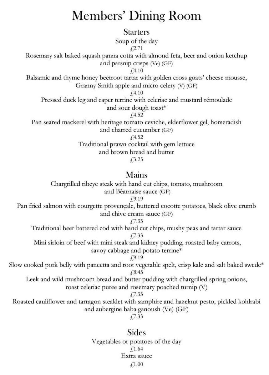 "Stephen Unwin on Twitter: ""The House of Commons' subsidised dining room menu.…  """