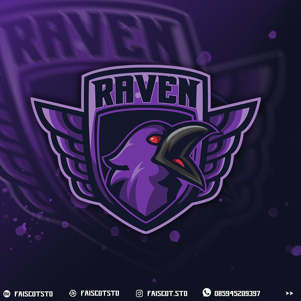 Hello Everyone, this my personal project  raven esport logo,  #gamingcommunity #gamers #eSports #twitchtv #twitchstreamer #twitch #gaminglogo #ArtistOnTwitter #YouTuber #YouTube #VALORANT #PUBG #Viral #order #podcast #podcaster  #naruto #logos #gaminglogo #YoutubeGaming https://t.co/DVKqvK0vKl