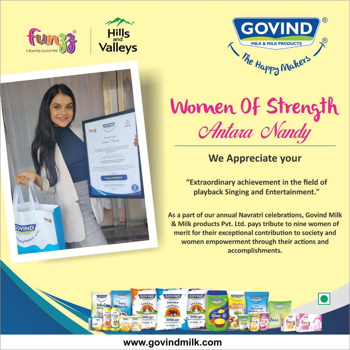 Thank you #Govindmilk for this gesture !!