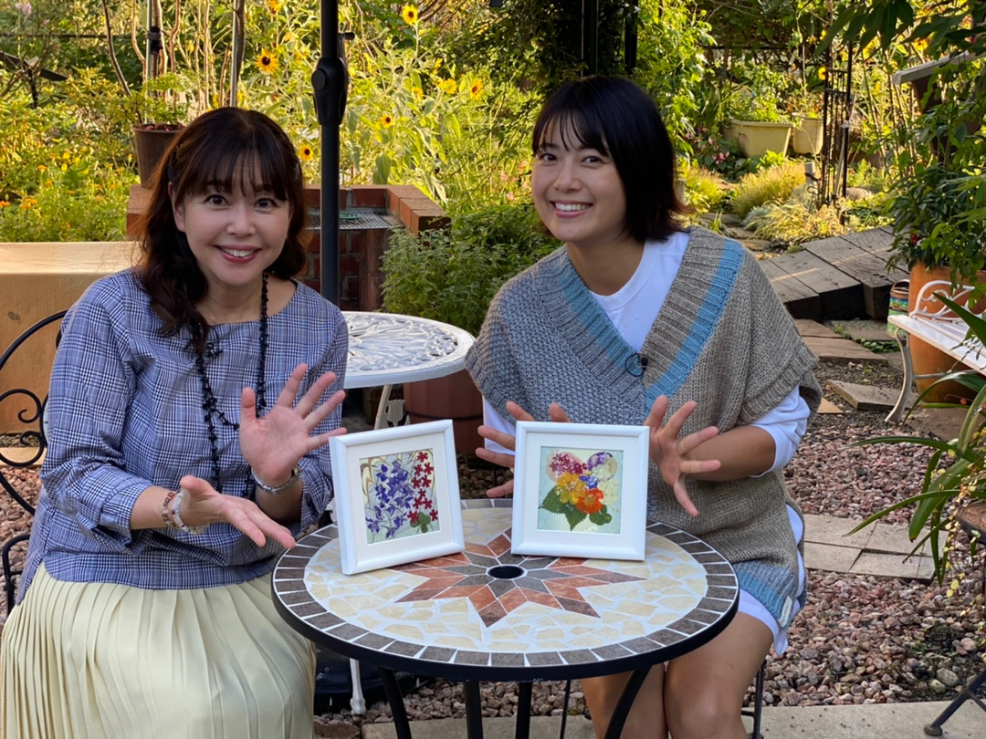アメブロを投稿しました。押し花アート初体験🤗「なかなか日本!〜高速道路DRIVE1バン旅〜」#竹岡圭#押し花