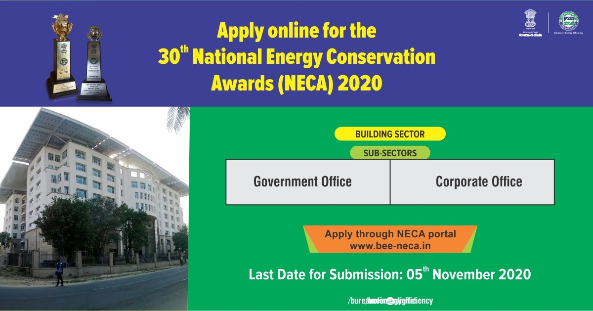 The Building sector has 30-40% potential of energy conservation. Implementation and adherence of energy efficiency measures for energy conservation in the existing buildings like Government and Corporate offices for exceptional performance will be awarded in https://t.co/qooMsN4ZqD