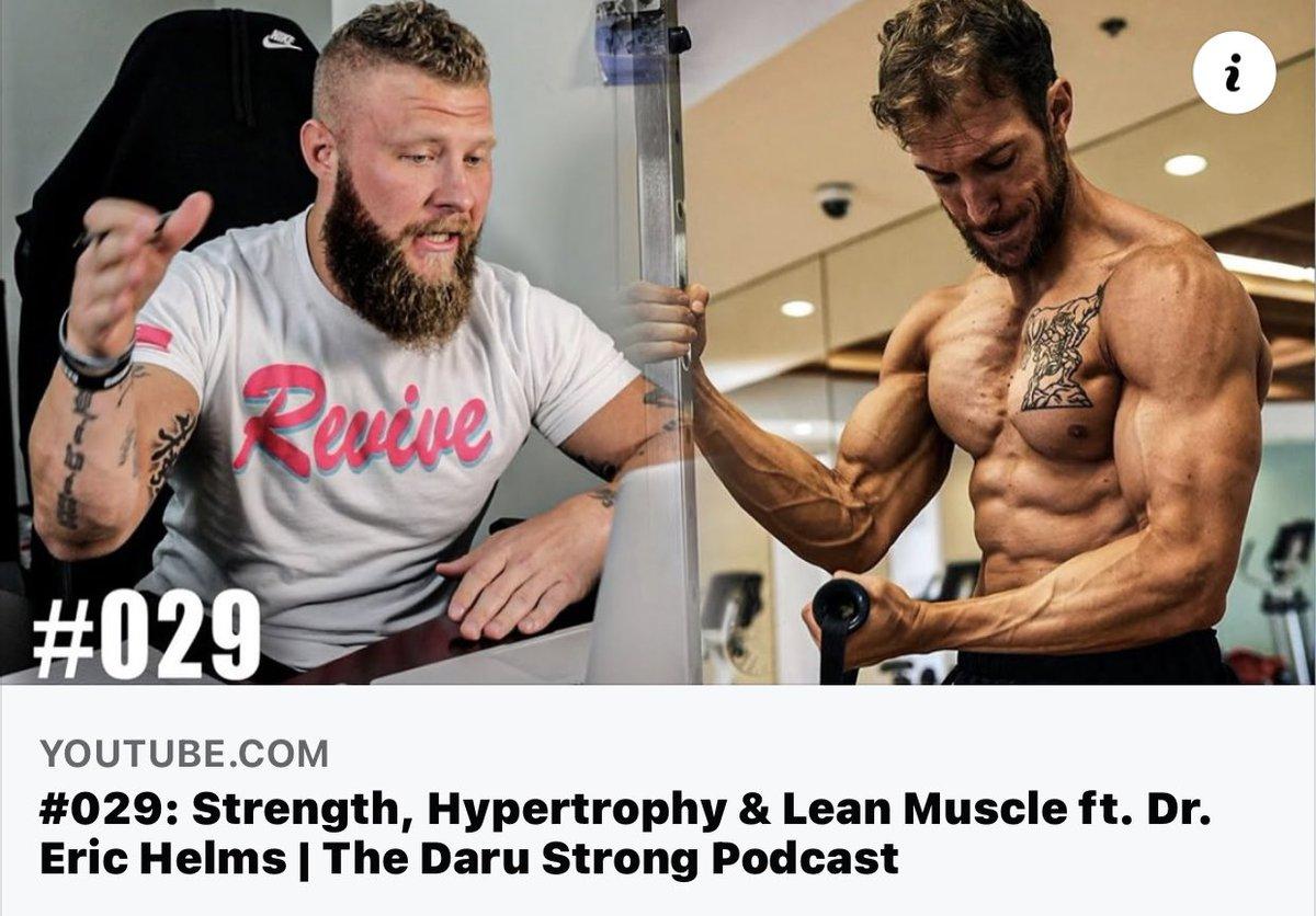 #029: Strength, Hypertrophy & Lean Muscle ft. Dr. Eric Helms   The Daru ... https://t.co/RzcwiN7bzo @team3dmj https://t.co/DBGrVFqq67