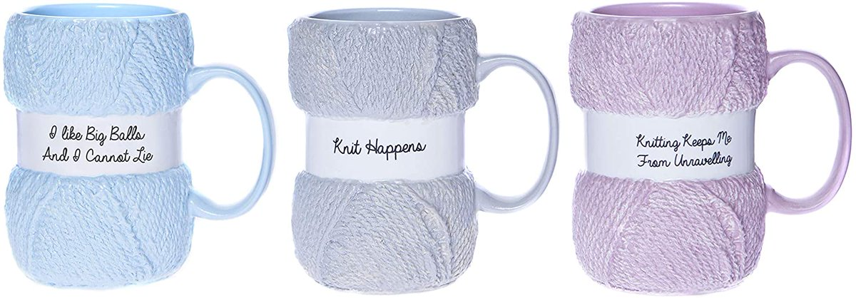 #Ad How about some #knit versions of a similar #coffee cup. I love them all!!  #stayathomestitchings #coffeecup #coffeemug #yarn #amazon #Christmas #gifts #novelty #gaggifts #mothersday #birthday  https://t.co/8ZWy3DEz96 via @amazon https://t.co/S5wPJI3bcv