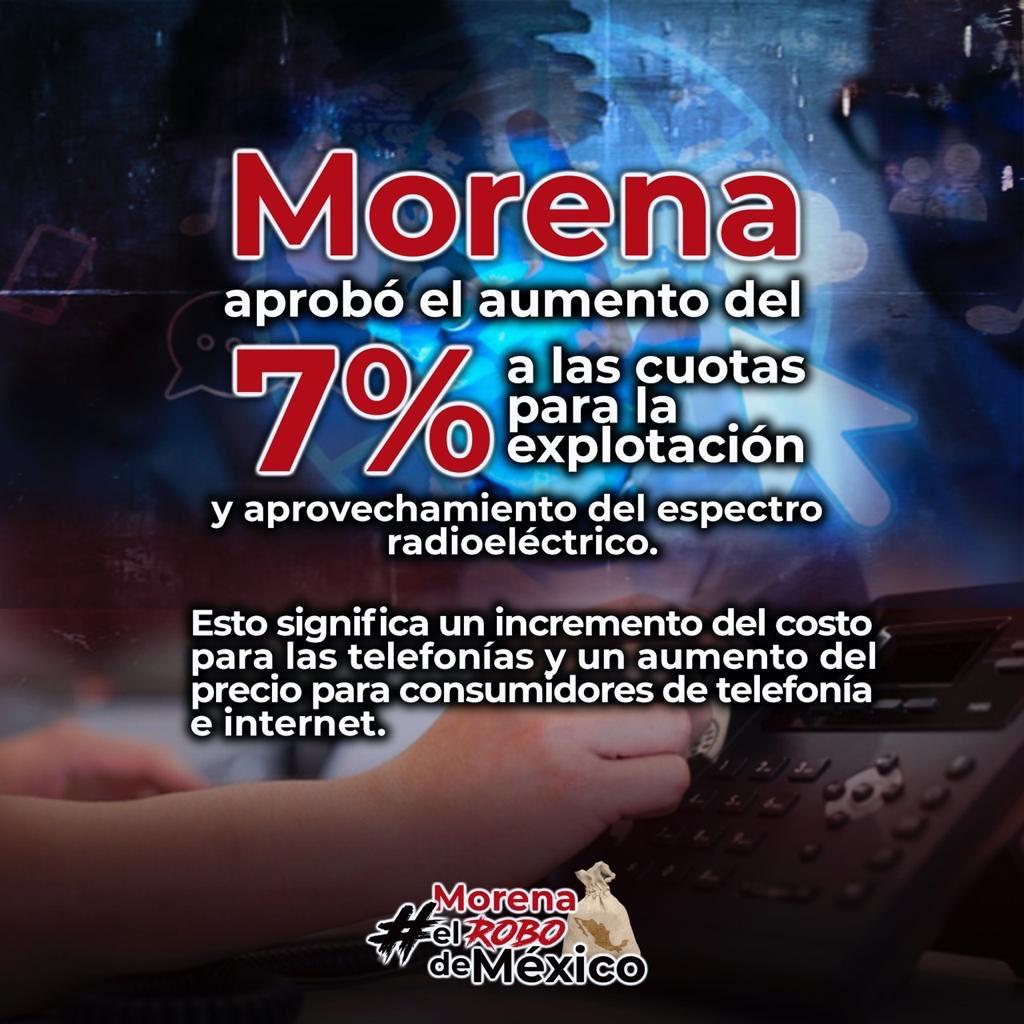 #MorenaElRoboDeMéxico  En plena pandemia cuando más se está utilizando el internet para que los niños y jóvenes tomen sus clases , para que muchos padres trabajen desde el Hogar, a los de MORENA se les ocurre subir el costo del Internet y la telefonía.😡😡😡 https://t.co/rR7au8rf3R