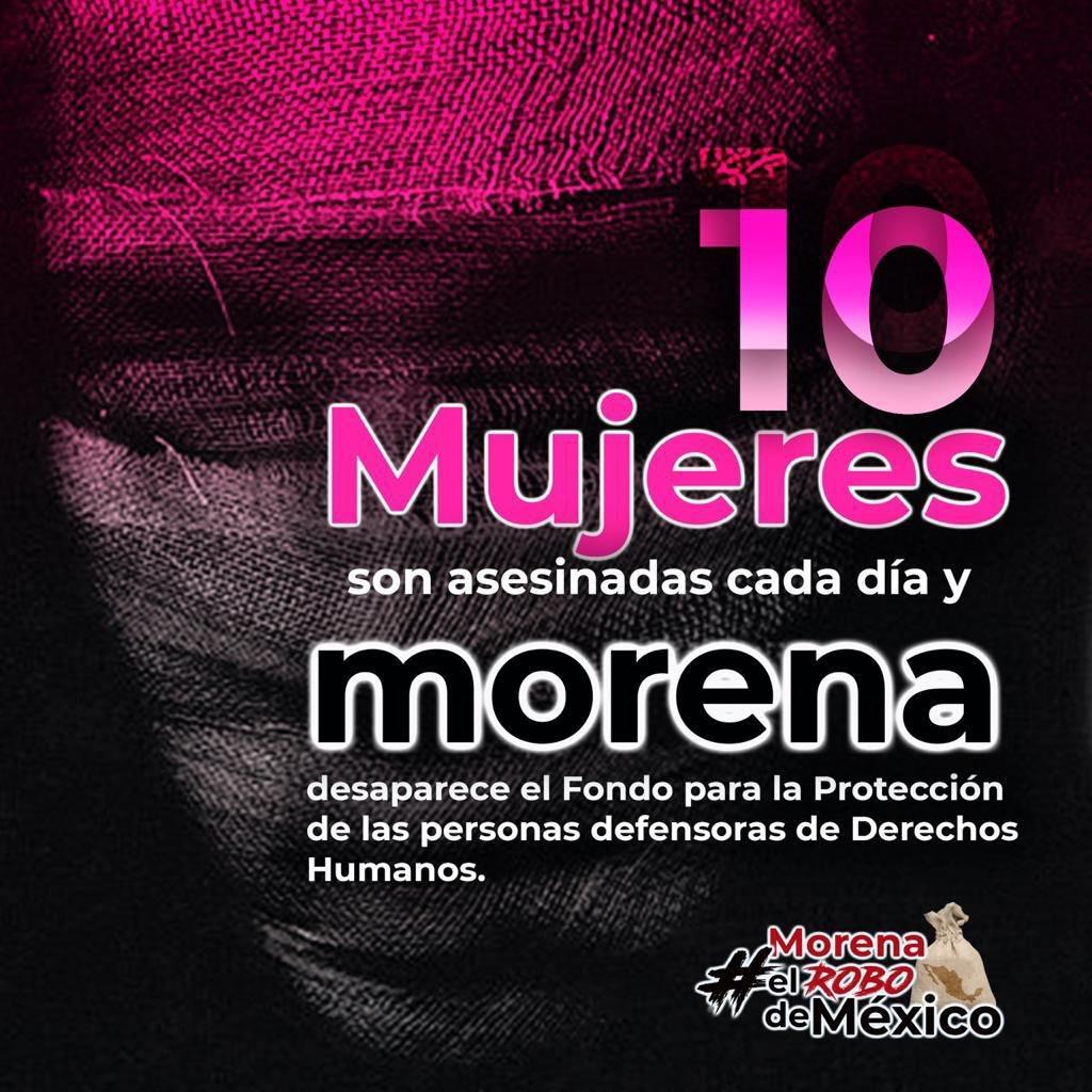 México atraviesa por altos índices de violencia y la extinción de los #FideicomiSOS eliminó todo rastro de ayuda inmediata y asistencia a las víctimas. Lejos de fortalecer, se entorpeció el proceso de atención, es un retroceso en derechos a víctimas. #MorenaElRoboDeMéxico https://t.co/TihEUDwNk8