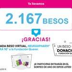 Image for the Tweet beginning: 💋Llevamos 2️⃣1️⃣6️⃣7️⃣#besos, ¿has participado en