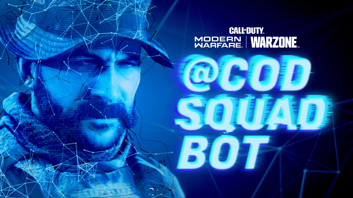 Introducing the @CODSquadBot. Heres how it works: 1️⃣ Tweet the @CODSquadBot. 2️⃣ Tag your squadmate. 3️⃣ Squad Bot will send them a special message.