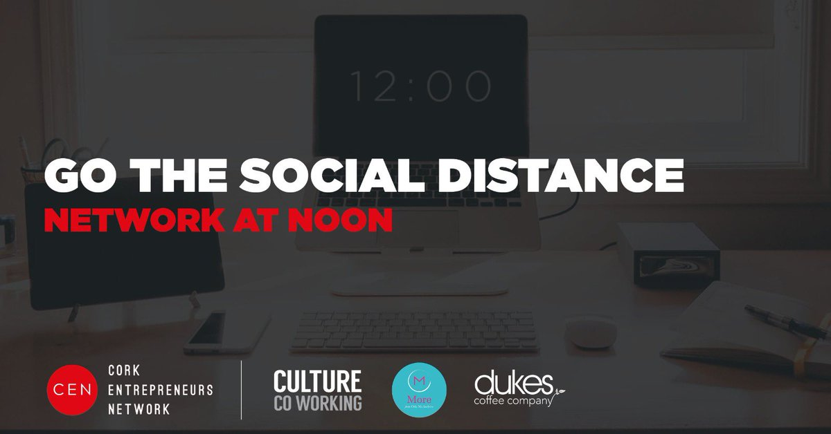 In association with @CulturecoworkCo @dukescoffeeco & Orla McAndrew, Cork Entrepreneurs virtual Network @ Noon is back. Every Wednesday @ noon for an hour, businesses are welcome to join us for coffee to create & build a supportive community.  https://t.co/DxaMOFuTo9 https://t.co/MwWQK6Bb6y