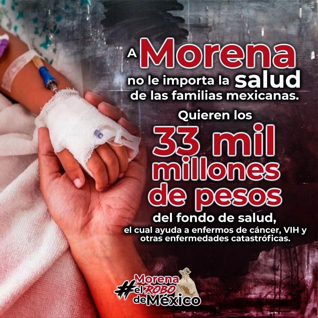El @GobiernoMX demuestra que lo único que le interesa es recaudar dinero para sus proyectos faraónicos, desapareciendo apoyos del fondo de salud y desastres naturales.  #MorenaElRoboDeMéxico https://t.co/A1tUOrFvYn