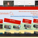 Image for the Tweet beginning: Opname van het #CodeWeek webinar