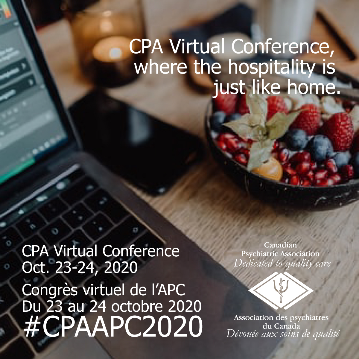 @CPA_APC Virtual Conference – Oct. 23-24, 2020:  Where the hospitality is just like home. Register Now! #CPAPC2020 #psychiatry #psychiatrie https://t.co/nZrYA2wfs0 https://t.co/gBO5x9V0eD
