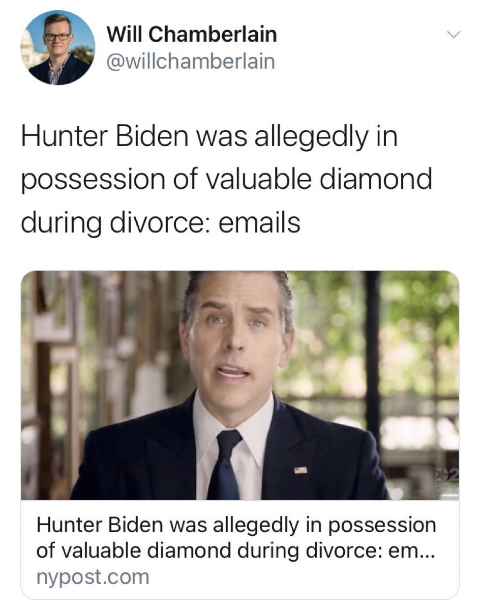 Extremely suspicious for a married couple to possess a single expensive diamond that comes up during the divorce. https://t.co/eQBfH5S9OM