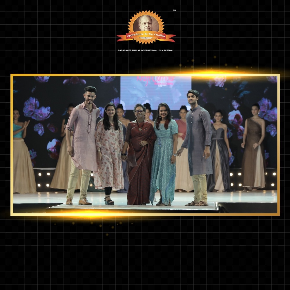 A glimpse of these stunning fashionistas shining on the stage.  The resplendence of the  awe-inspiring Indian Cinema revered in its utmost glory as we facilitated the 150th Birth Anniversary of Dadasaheb Phalke Ji and Mahatma Gandhi Ji. https://t.co/Gz8x3igPfg