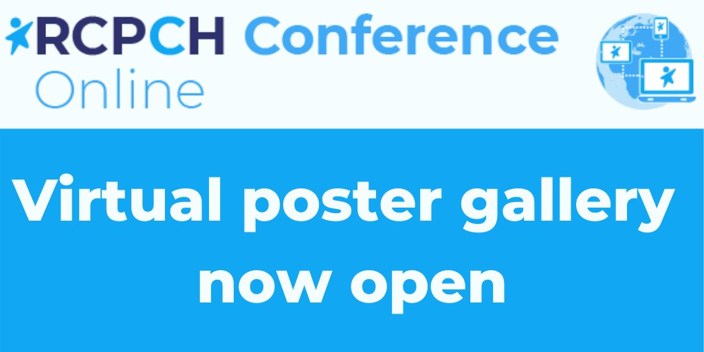 This year's RCPCH Gallery is virtual, and is open for you to visit at your convenience until early December. Review over 400 posters showcasing the latest in paediatric research. Find out more at: https://t.co/bGY04DlxU7 https://t.co/szN2sAAwlX
