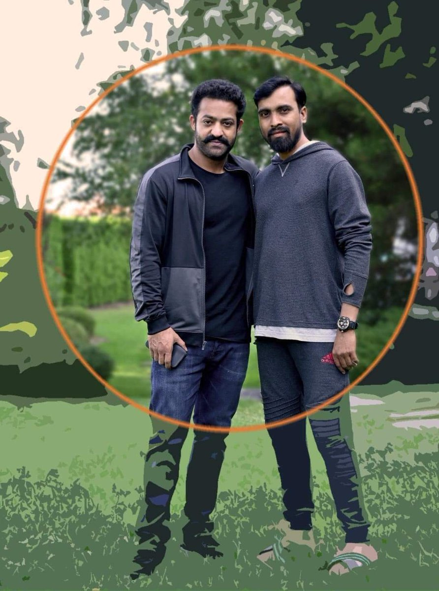 I think it's very recent snap 🤩 @tarak9999 with #RRRMovie DOP  #RecordBreakingBheemTeaser