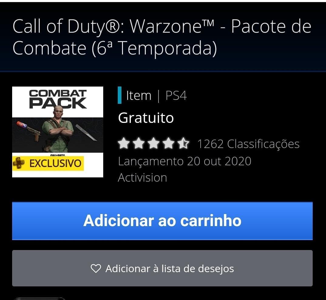 Pra galera do Call of Duty Warzone do ps4! Pack disponível gratuito para assinantes da psplus!! #CallOfDutywarzone https://t.co/8Gs6JFZGZ7