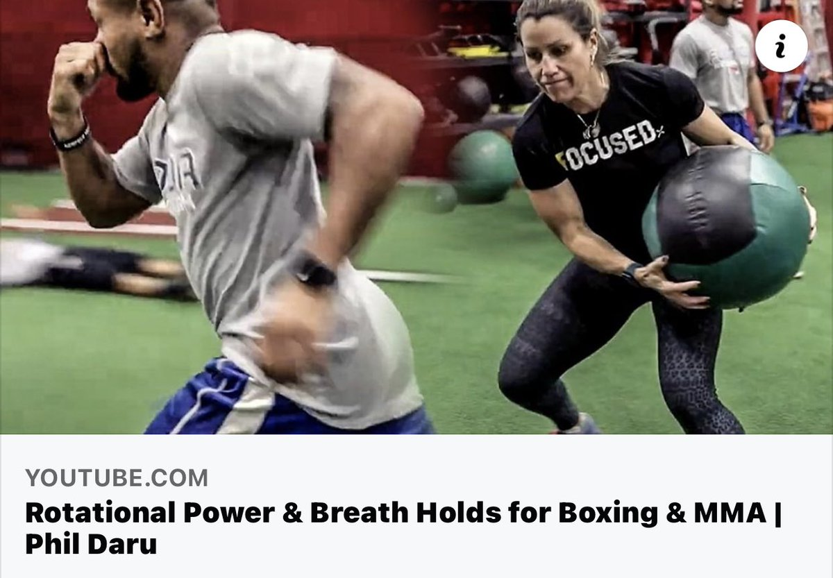 Rotational Power & Breath Holds for Boxing & MMA   Phil Daru https://t.co/Dfafua4YPD via @YouTube @Dez_M80 @MaureenShea https://t.co/A1WKTyRIIT