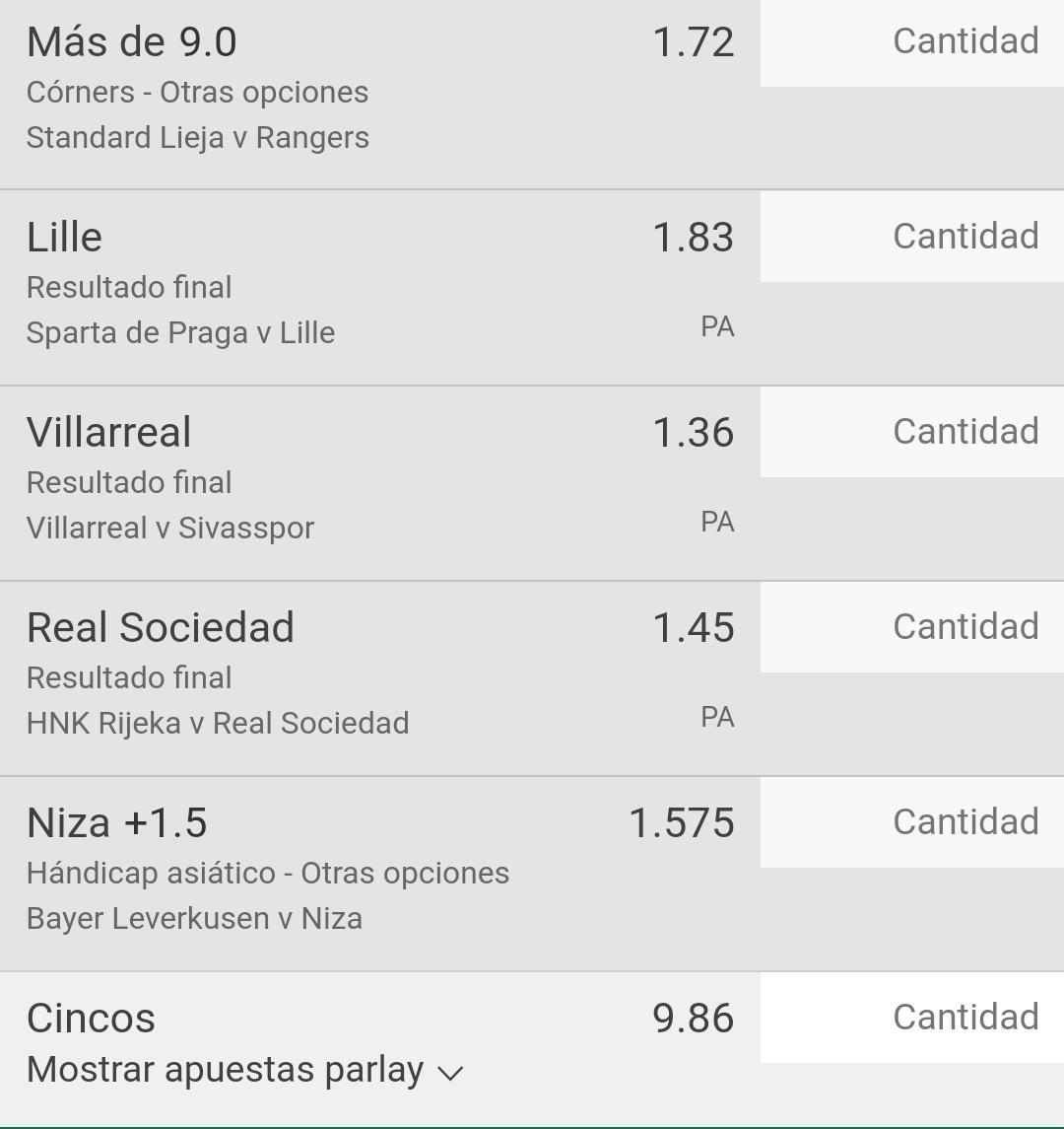 Buen día, vamos con 3 picks oficiales para #EuroLeague y dejo 2 parlays para intentar hoy. 🤞🍀  📍Celtic vs Milan  📌Milan mas de 1 gol (1.83) 2%  📍Sparta vs Lille  📌Lille ML (1.83) 1.5%  📍Standard L vs Rangers  📌Mas de 9 corners (1.72) 1.5 %  #FreePicks https://t.co/UZ8qVGs4T5