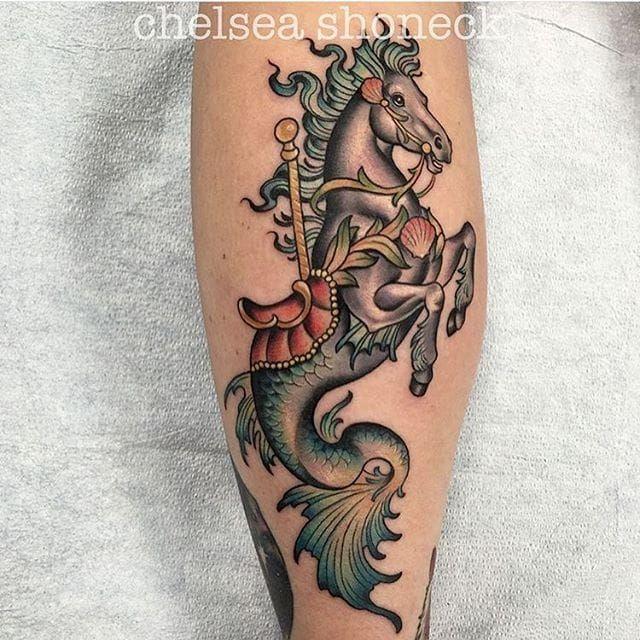 Seahorse Tattoo Design Ideas #2 - https://t.co/qToiyccwkD via @Planetoftattoos #planettattoos https://t.co/WV71oUDttm
