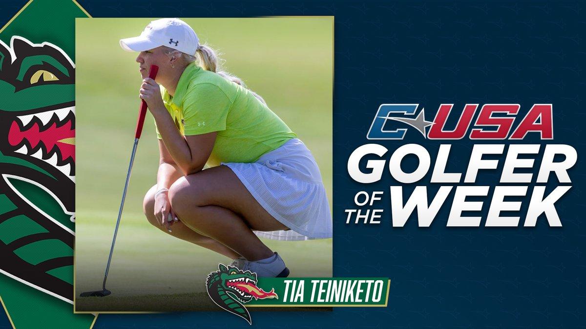 📢: Congratulations to @UAB_WGOLF's Tia Teiniketo, #CUSAGOLF Women's Golfer of the week! 🏌️♀️  🏅2️⃣ https://t.co/q2cK1beVia
