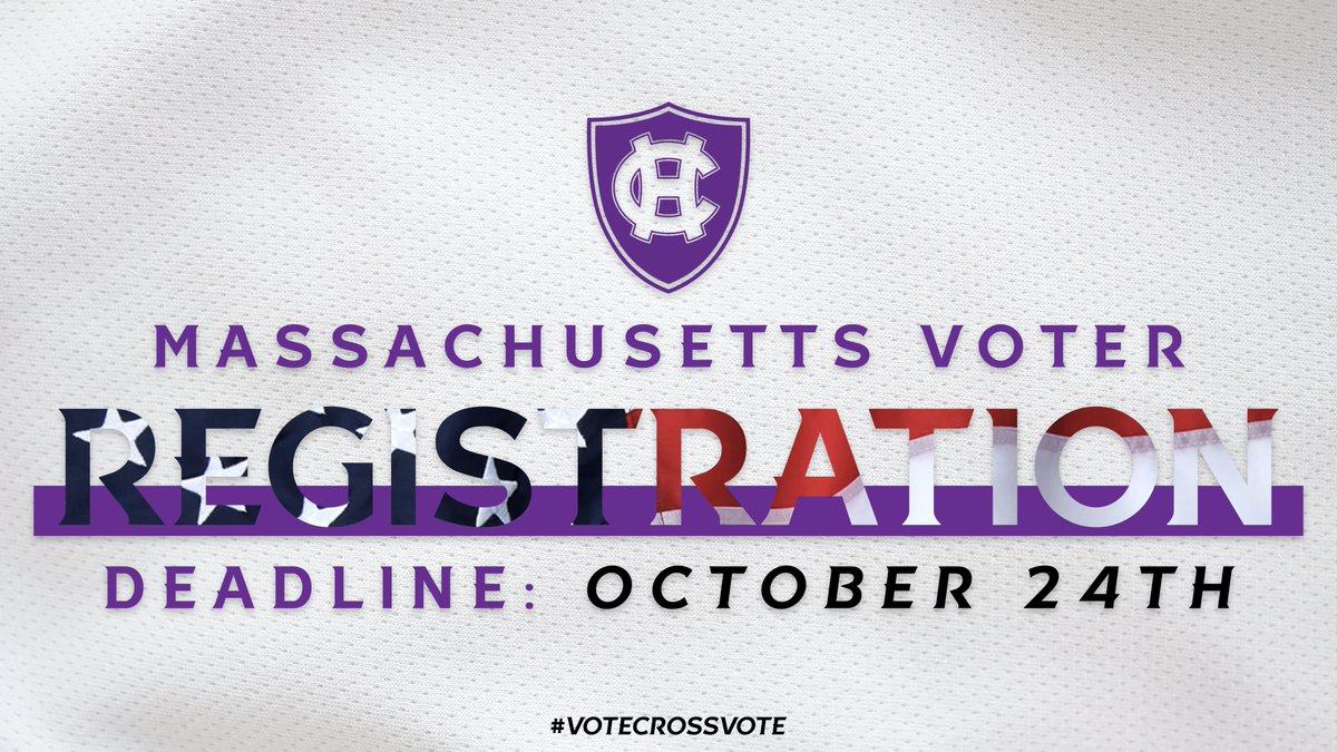 Election Day is in 1️⃣2️⃣ days - and if you havent registered to vote in Massachusetts yet, theres still time! ➡ holycross.turbovote.org #VoteCrossVote
