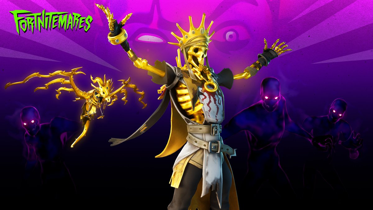 The fallen king is back for revenge, and this time he'll fit right in with the crowd.  Check out the Midas' Revenge Set in the Item Shop now! https://t.co/STYfxlEZtA