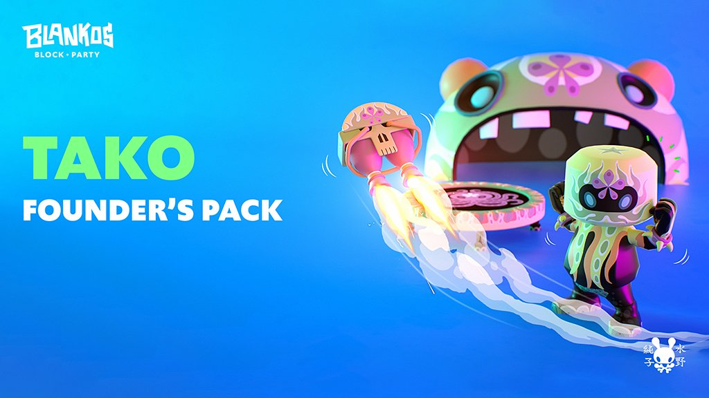 Grab your limited edition @PlayBlankos Founder's Packs now. #NFT #EOSIO