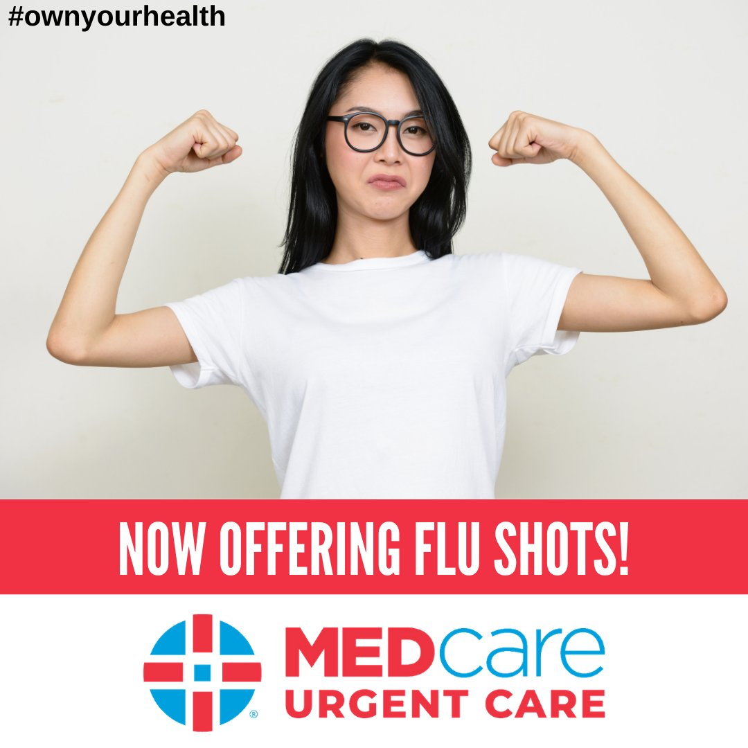 2020 is not the year you want to skip your flu shot! Our partners at @MEDcare are offering flu shots 7 days a week from 8:00 AM – 8:00 PM! Click the link below to Save Your Spot Online! #ownyourhealth  https://t.co/XMMnM9nCNy https://t.co/HgQwuUx8dK