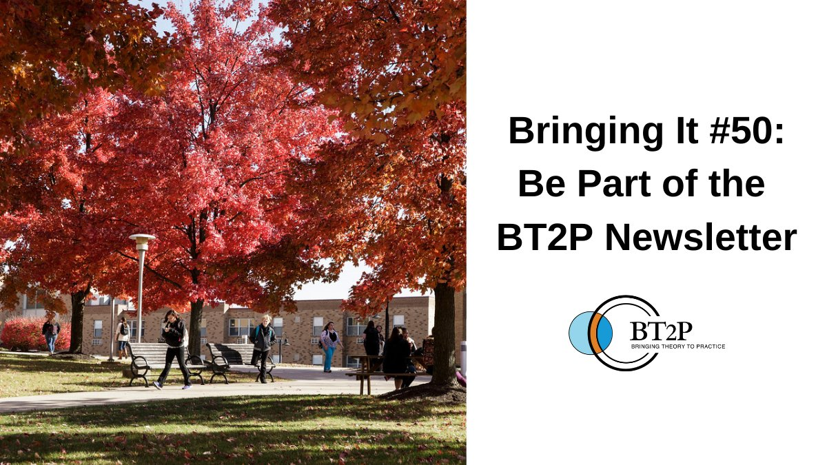 "Bringing It #50 is packed with opportunities, including the chance to be featured in the next issue of the BT2P Triannual Newsletter. The theme is ""Seeds of Transformation"". Check out the #CallForSubmissions and explore the latest news from our community: https://t.co/aFjNYefNhK"