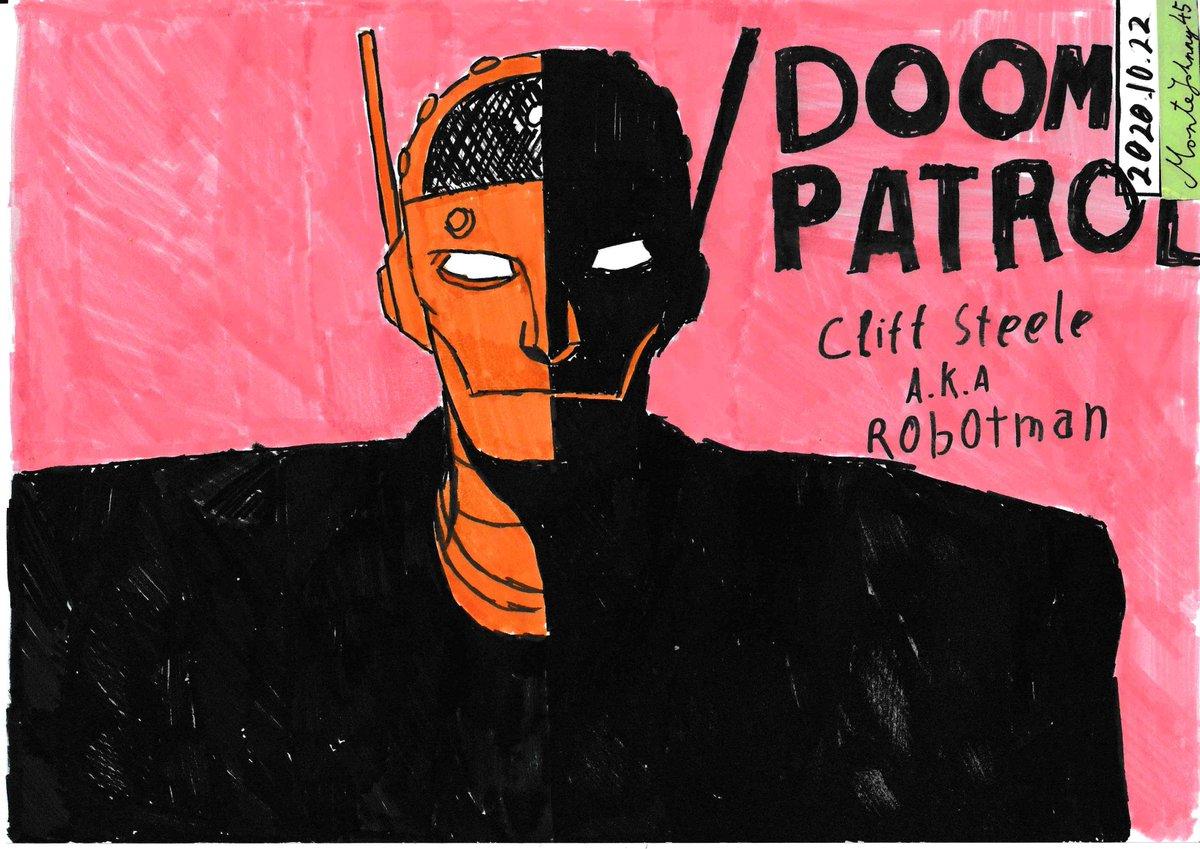 #doompatrol #dccomics #dcuniverse #dc #robotman   #comics  #cliffsteele  #brendanfraser #doompatroledit #draw #drawing #traditionalart #art #artwork #sketch #illustration #meme #dankmeme #GerardWay #permament #ballpen https://t.co/GdaiMrKsTw