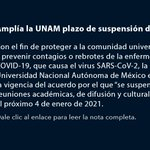 Image for the Tweet beginning: 🔴 La @UNAM_MX aplaza reinicio
