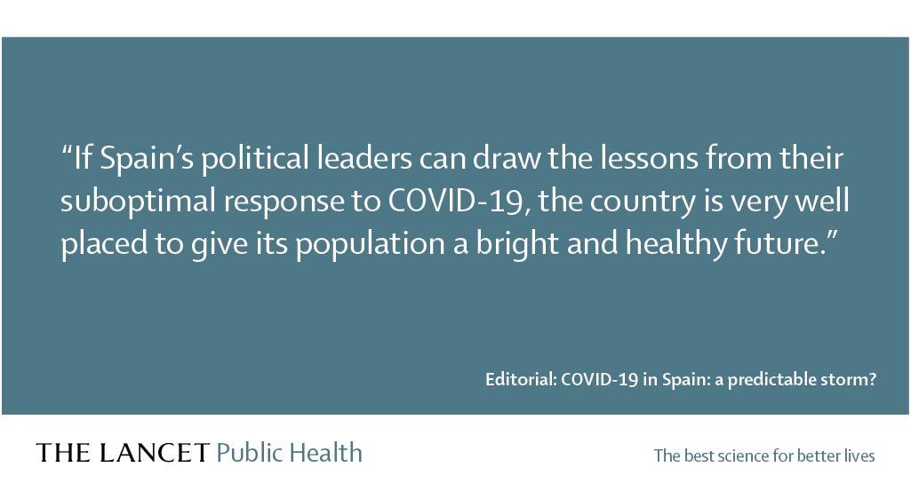 Editorial: Si los líderes políticos en #España consiguen sacar las lecciones de su respuesta subóptima a la #COVID19, podrían posicionar a su población en buen camino para un futuro positivo y saludable https://t.co/KQgy0R1eq2 https://t.co/TMLOuIxhve
